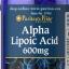 ต้านอนุมูลอิสระPuritan Pride Alpha Lipoic Acid 600 mg ขนาด 60 Capsule thumbnail 1