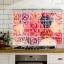 """สติ๊กเกอร์ติดครัวกันน้ำมันกระเด็น """"Flowers"""" ขนาด 60 cm x 90 cm thumbnail 1"""
