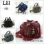 Shumiya กระเป๋าถือผ้าไนลอน สลับหนัง 9 นิ้ว มีสายสะพาย thumbnail 2