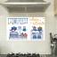 """สติ๊กเกอร์ติดครัว กันน้ำมันกระเด็น อลูมิเนียม """"Happy Kitchen"""" ขนาด 45cm x 75cm thumbnail 1"""