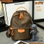 Shumiya กระเป๋าเป้ใบมินิ ทรง Palm Spring ฟรีตุ๊กตาหมีห้อย สีน้ำตาล thumbnail 1