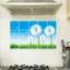 "Aluminium Sticker สติ๊กเกอร์กันน้ำมันกระเด็น ""White Dandelion"" ขนาด 45cm x 75cm thumbnail 3"