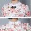 เสื้อลูกไม้เกาหลี ลายดอกไม้สีแดง thumbnail 5