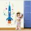 """สติ๊กเกอร์ติดผนัง สำหรับห้องเด็ก """"Fresh Spacecraft"""" สเกลเริ่มต้น 80 cm ถึง 170 cm thumbnail 1"""