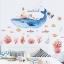 """สติ๊กเกอร์ติดผนัง สำหรับห้องเด็ก (AU)""""ปลา วาฬ Nautical""""ความสูง 110 cm ความยาว 110 cm thumbnail 1"""