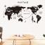 """สติ๊กเกอร์ตกแต่งผนังเมืองท่องเที่ยว """"แผนที่ World Trip"""" ความสูง 60 cm ความกว้าง 130 cm thumbnail 1"""