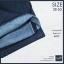 """38""""-50"""" กางเกงยีนส์ขาสั้น สีมิทไนท์ ริมแดง ผ้าไม่ยืด รหัส 989 thumbnail 2"""