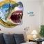 """สติ๊กเกอร์ติดผนัง 3D """"Shark"""" ความสูง 67 cm กว้าง 87 cm thumbnail 3"""