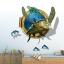 """สติ๊กเกอร์ติดผนัง 3D """"เต่าทะเล Sea Turtle"""" ความสูง 94cm กว้าง 83cm thumbnail 1"""