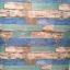 "Wallpaper Sticker วอลล์เปเปอร์แบบมีกาวในตัว ""ลายไม้เก่าสีฟ้า สไตล์วินเทจ"" หน้ากว้าง 1.22m ตัดขายตามความยาว เมตรละ 250 บาท thumbnail 5"