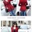 เวอร์ชั่นเกาหลี เสื้อแจ็คเก็ต ซิป แขนยาว สีแดง เสื้อคลุม thumbnail 2