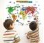 """สติ๊กเกอร์ติดผนังตกแต่งบ้าน """"แผนที่ Map of the World"""" ความสูง 60 cm กว้าง 92 cm thumbnail 2"""