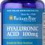 ผิวเนียนเรียบ ชุ่มชื่น ลดริ้วรอย Hyaluronic Acid 100mg / 60 Capsules thumbnail 1