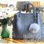 กระเป๋าหนังฟอก หูหิ้ว หูถือหนังเปีย มาพร้อมปอมปอม 9 นิ้ว thumbnail 1