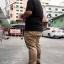 """กางเกง สแลค ผ้ายืด ผู้ชายอ้วน ทรงกระบอกเล็ก (สีครีม) 40-46"""" thumbnail 4"""