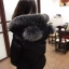 PRE Faux Fur Hooded Down Coat - short thumbnail 38