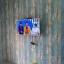 "Wallpaper Sticker วอลล์เปเปอร์แบบมีกาวในตัว ""ลายไม้เก่าสีฟ้า สไตล์วินเทจ"" หน้ากว้าง 1.22m ตัดขายตามความยาว เมตรละ 250 บาท thumbnail 1"