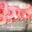 package photo backdropดอกไม้กระดาษ เช่าฉากถ่ายภาพงานแต่งงานโทนชมพู ยาว4เมตร thumbnail 1