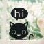 """สติ๊กเกอร์ติดปลั๊กไฟ """"Hi Cat"""" ขนาดซองบรรจุ 15 x 12 cm thumbnail 1"""