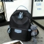 Shumiya กระเป๋าเป้ใบมินิ ทรง Palm Spring ฟรีตุ๊กตาหมีห้อย สีดำ thumbnail 1