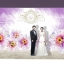 backdropงานแต่งงาน - inkjet backdrop wedding ดอกไม้สีม่วง thumbnail 1