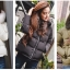PRE Faux Fur Hooded Down Coat - short thumbnail 16