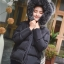 PRE Faux Fur Hooded Down Coat - short thumbnail 15