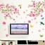 """วอลล์สติ๊กเกอร์ตกแต่งผนัง หมวดต้นไม้ """"Pink Plum Blossom"""" ความสูง 120 cm กว้าง 110 cm thumbnail 1"""
