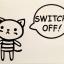 """สติ๊กเกอร์ติดปลั๊กไฟ """"Cute Bear III""""ขนาดซองบรรจุ 15 x 12 cm thumbnail 1"""