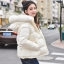 PRE Faux Fur Hooded Down Coat - short thumbnail 1