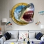 """สติ๊กเกอร์ติดผนัง 3D """"Shark"""" ความสูง 67 cm กว้าง 87 cm thumbnail 1"""