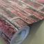 """วอลเปเปอร์ ลายอิฐ """"ลายอิฐมอญสีแดงหม่นโทนอ่อน"""" หน้ากว้าง 122 cm เมตรละ 250 บาท thumbnail 1"""