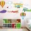 """สติ๊กเกอร์ติดผนัง สำหรับห้องเด็ก """"Balloon and jetplane"""" thumbnail 1"""