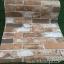 """Wallpaper Sticker วอลล์เปเปอร์แบบมีกาวในตัว """"ลายอิฐน้ำตาล"""" หน้ากว้าง 53cm (ขั้นต่ำ 3m คละลายได้) ตัดขายตามความยาว เมตรละ 110 บาท thumbnail 1"""