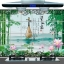 """สติ๊กเกอร์ติดครัวกันน้ำมันกระเด็น """"Bamboo and Lotus"""" ขนาด 60 cm x 90 cm thumbnail 1"""