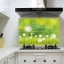 """สติ๊กเกอร์ติดครัวกันน้ำมันกระเด็น """"Green Dandelion"""" ขนาด 60 cm x 90 cm thumbnail 1"""