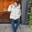 PRE Faux Fur Hooded Down Coat - short thumbnail 4