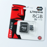 Kingston Memory Micro SD Card Class 4 - 8 GB