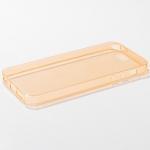 เคส iPhone 5/5S ซิลิโคนใส หนา 0.6 มม. สีส้ม
