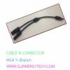 cable & connector(ตัวเชื่อมสายไฟ) แบบ MC4 -Y ฺBranch