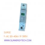 Surge แบบ SPD_F-AC ขนาด 20-40kA 1P 385V white