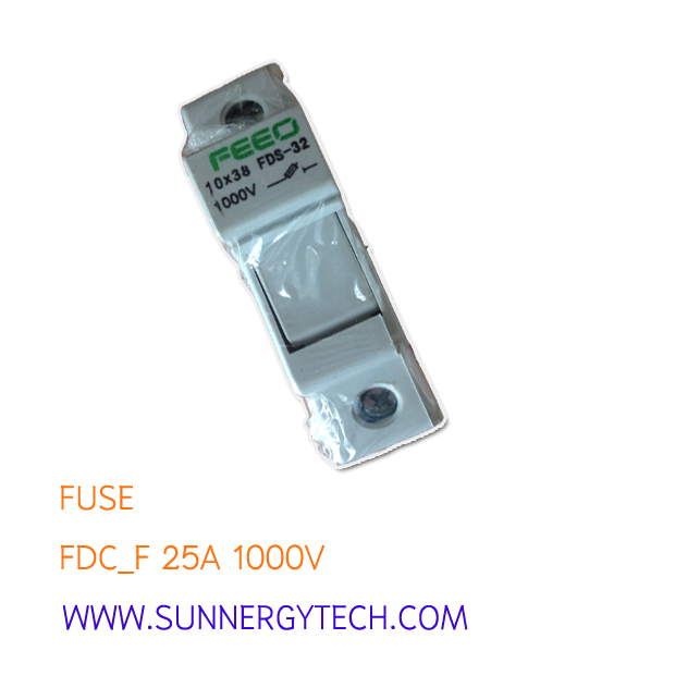 Fuse แบบ FDC_F ขนาด 25A 1000V