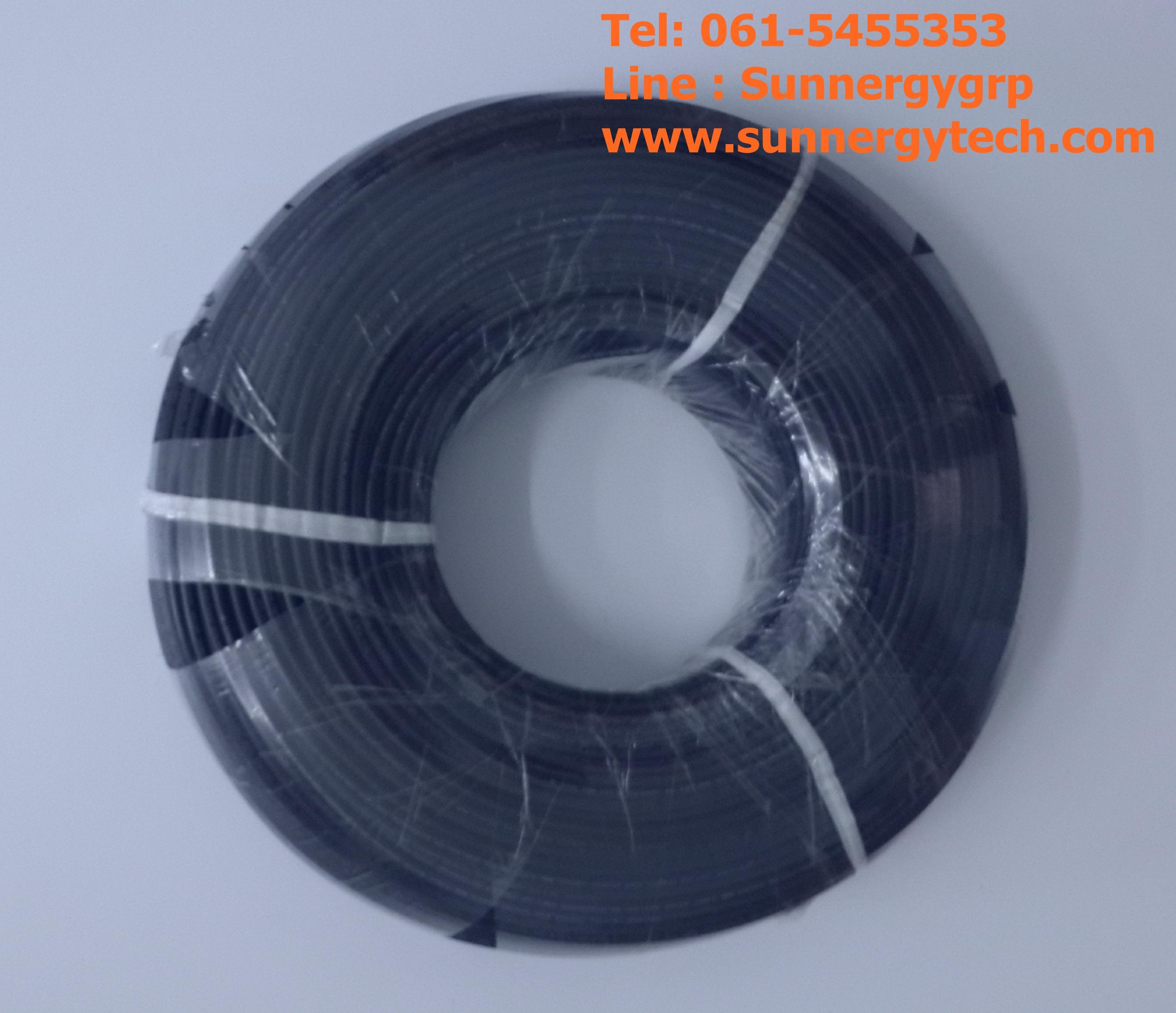 cable & connector(สายไฟ) ขนาด 2.5mm2 Black