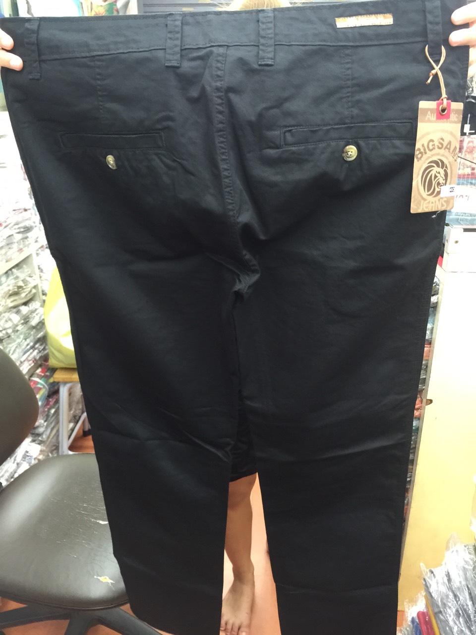 """กางเกงสแล๊คขายาว ผู้ชายอ้วน ทรงกระบอกเล็ก (สีดำ) 38-48"""""""