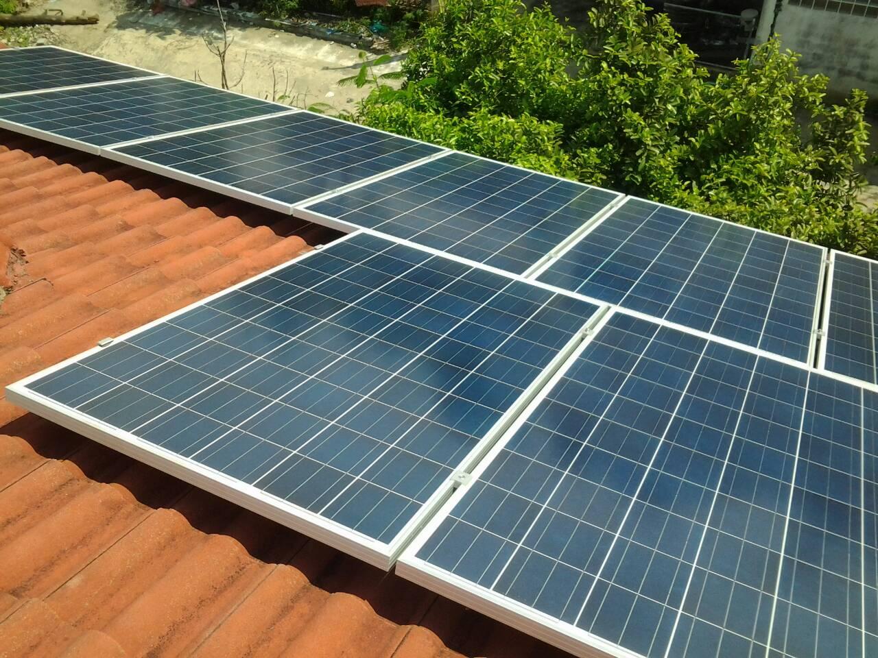 รับติดตั้ง solarcell รับเหมาติดตั้ง เดินไฟ