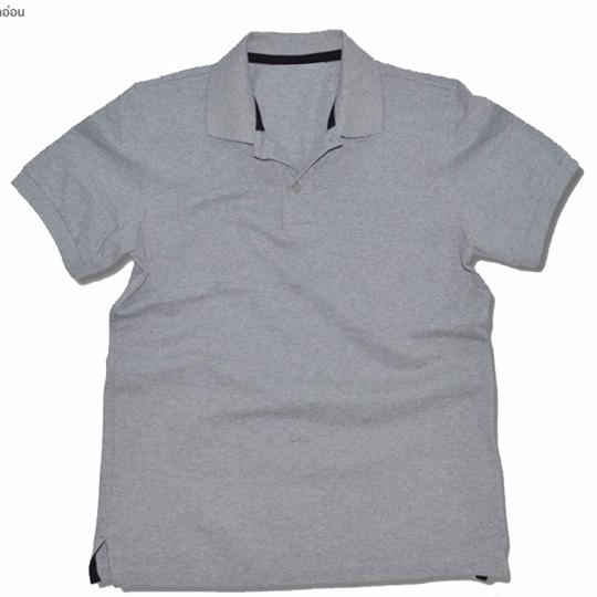 Basic Polo สีเทา Topdry M-4XL (Changyim) ผ้าจุติ