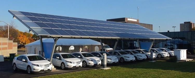 สถานีชาร์จไฟของรถยนต์ไฟฟ้าโดยพลังงานแสงอาทิตย์ : Inspired by LnwShop.com