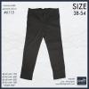 """กางเกงสแล๊คขายาว ผู้ชายอ้วน ทรงกระบอกเล็ก (สีน้ำตาลเข้ม) รหัส 6115 38-48"""""""