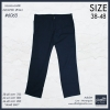 """กางเกงสแล๊คขายาว ผู้ชายอ้วน ทรงกระบอกเล็ก (สีกรม) รหัส 6065 38-48"""""""