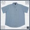 เสื้อเชื้ตสีพื้น #TP14 แขนสั้น 2XL , 3XL , 4XL , 6XL , 8XL สีฟ้าอ่อน